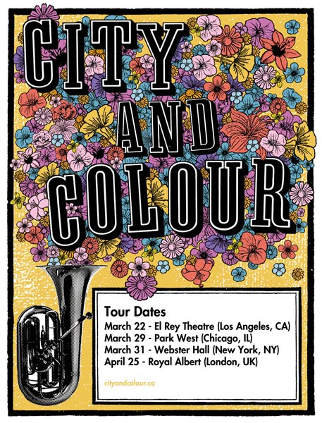 tremagazine city colour tour dates. Black Bedroom Furniture Sets. Home Design Ideas