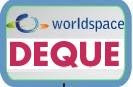 Deque World space logo