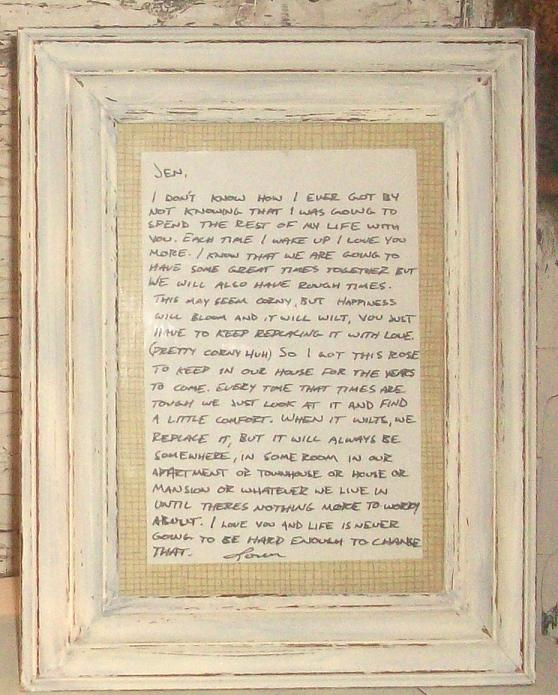 Image result for framed love letters