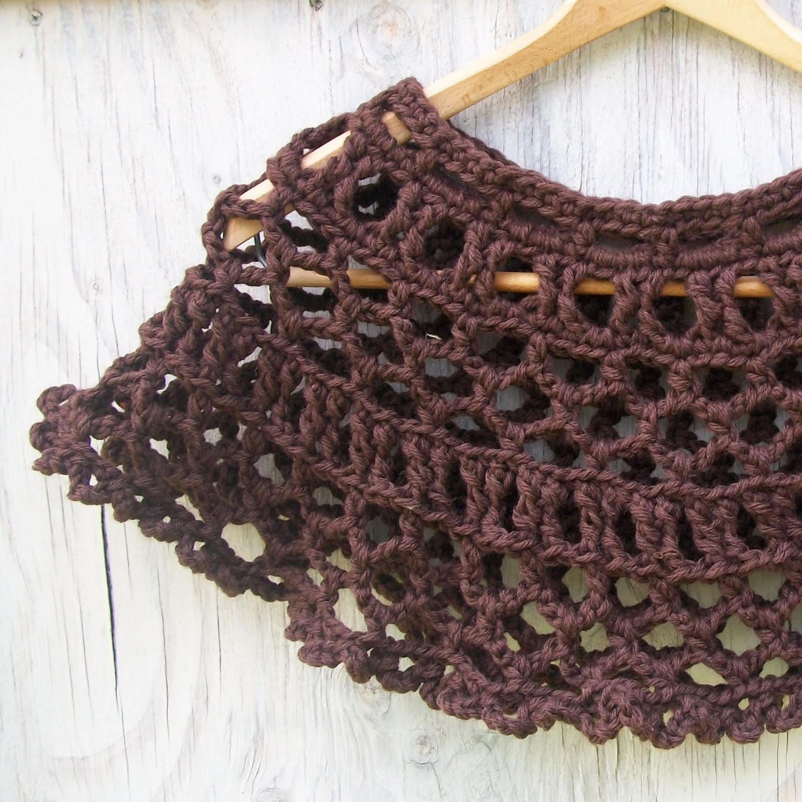 chocolate lace template - knitting architect dark chocolate lace cape pattern