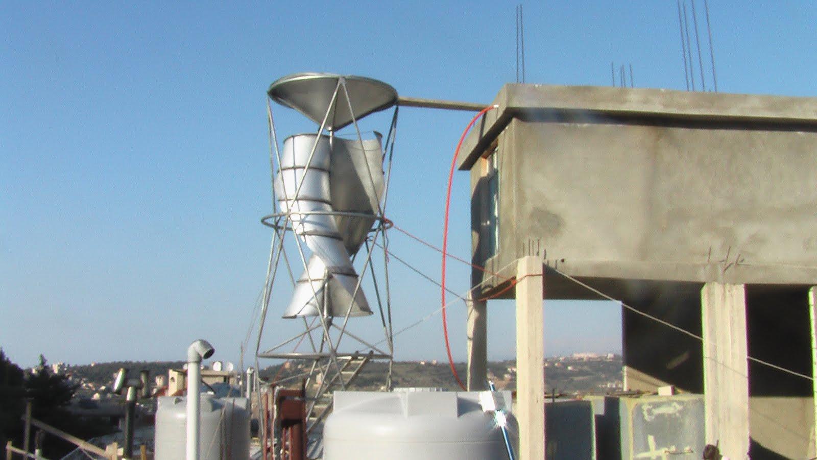 Renewable Solar Energy Lebanon S Vertical Axis Wind Turbine