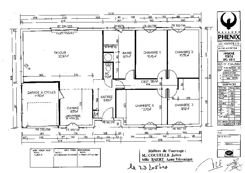 Plan De Grande Maison Affordable Plan Habill Etage Maison Bastide