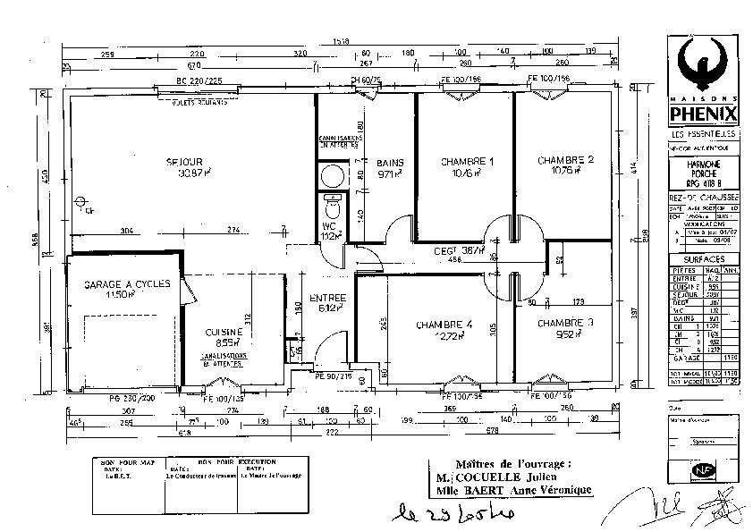 Plan maison plein pied 100m2 avec garage for Plan maison en l 100m2