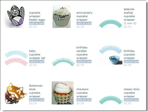 Just A Few Examples Of Cupcake Wrapper Templates Available From Silhouette