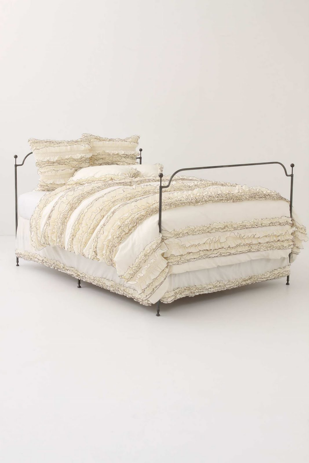 Anthropologie Ruffled Bedding