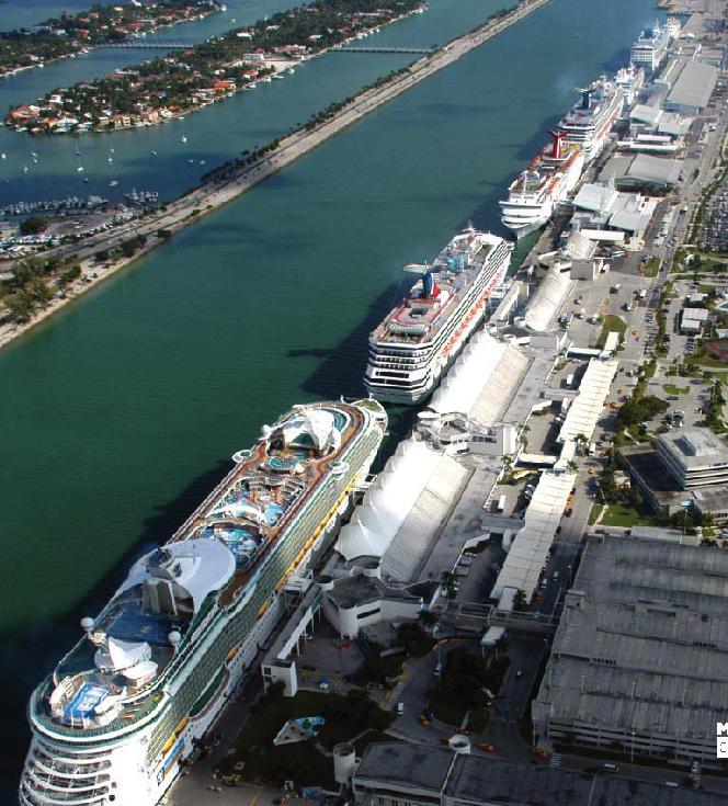 Miami Port: Professor Cruise Ship: Cruise Departure Port