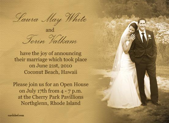 Wedding Planning Wedding Announcement Wording