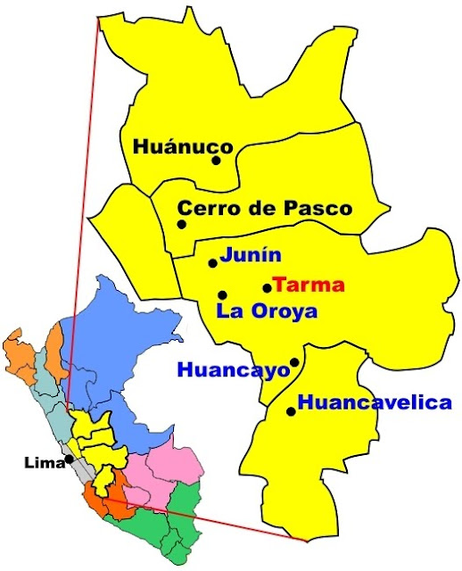 Huancayo Peru Map.Por Pequenos Medios Map Of The Huancayo Peru Mission