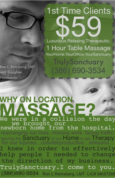 I Am Ron Remsberg A Licensed Mage The And Owner Of Trulysanctuary On Location Therapy Serving New Smyrna Beach Fl