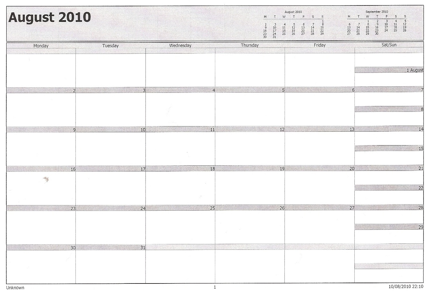 Philofaxy microsoft outlook calendar filofax for Microsoft outlook calendar templates