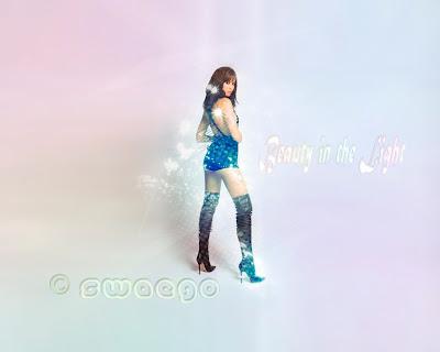Гламурный постер с девушкой Бонда в Фотошоп.
