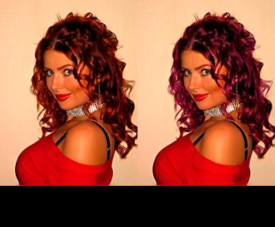 Как поменять цвет волос в Photoshop CS5 ?