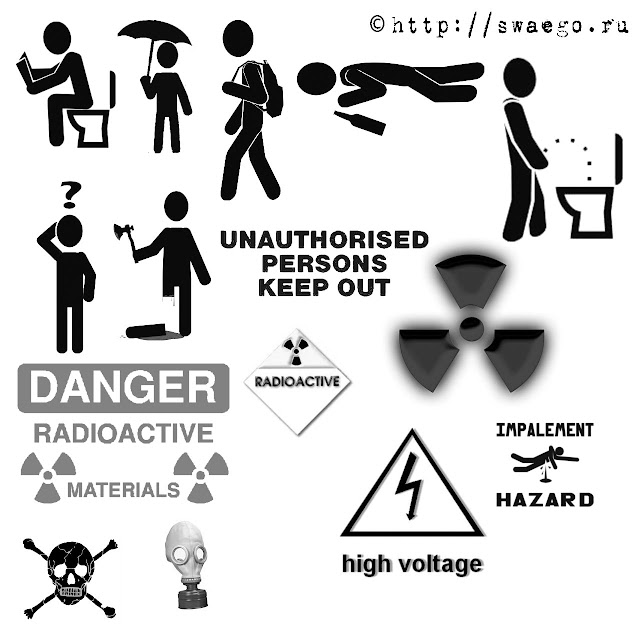 Кисти для Фотошопа.Пиктограммы,знаки опасности,скачать бесплатно.