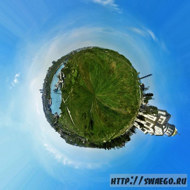 Круговая панорама.Маленькие планеты