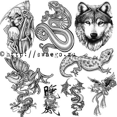 Кисти-татуировки для Фотошопа.Скачать.