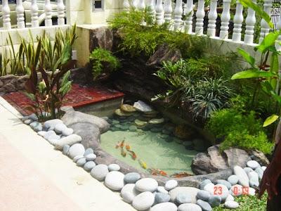 Perniagaan Emzek Landscape: Koi Pond on Front Yard Pond id=98306
