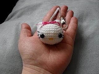 Cat keyring crochet charm Kitty keychain knitte... - Folksy | 240x320