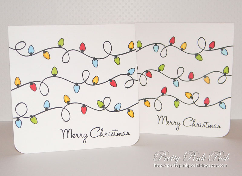 here is a picture of two of the cards however there are lots more cant wait to start seeing more christmas cards in blog land - Simple Christmas Cards