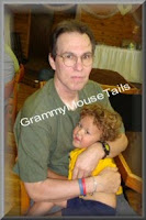 snuggle time with grandpa photo image