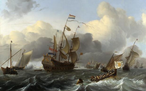Dutch Paintings 17th Century War Ships