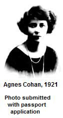 Agnes Cohan in 1921