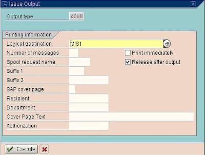 SAP e-mory SAP VF03 Print Sales Invoice - how to print invoices