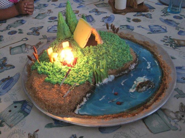 Birthday Cake Camp Fire Image
