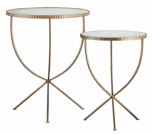 Gold Toned Side Tables Like This Directoire Style Beauty In Tia Zoldan S Hollywood Cottage You Can See The Rest Of House One My Favorites