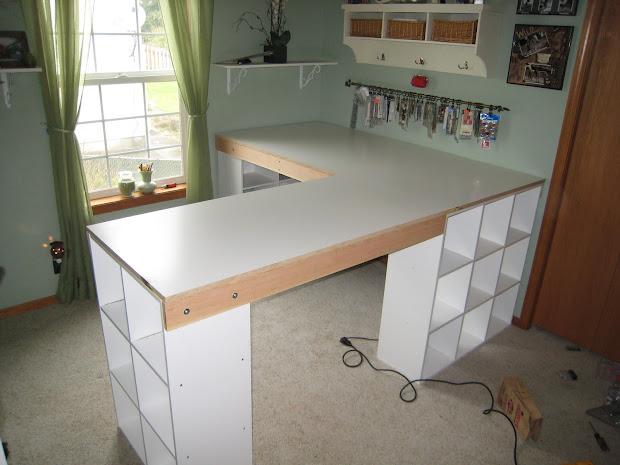 White Craft Desk Build Custom
