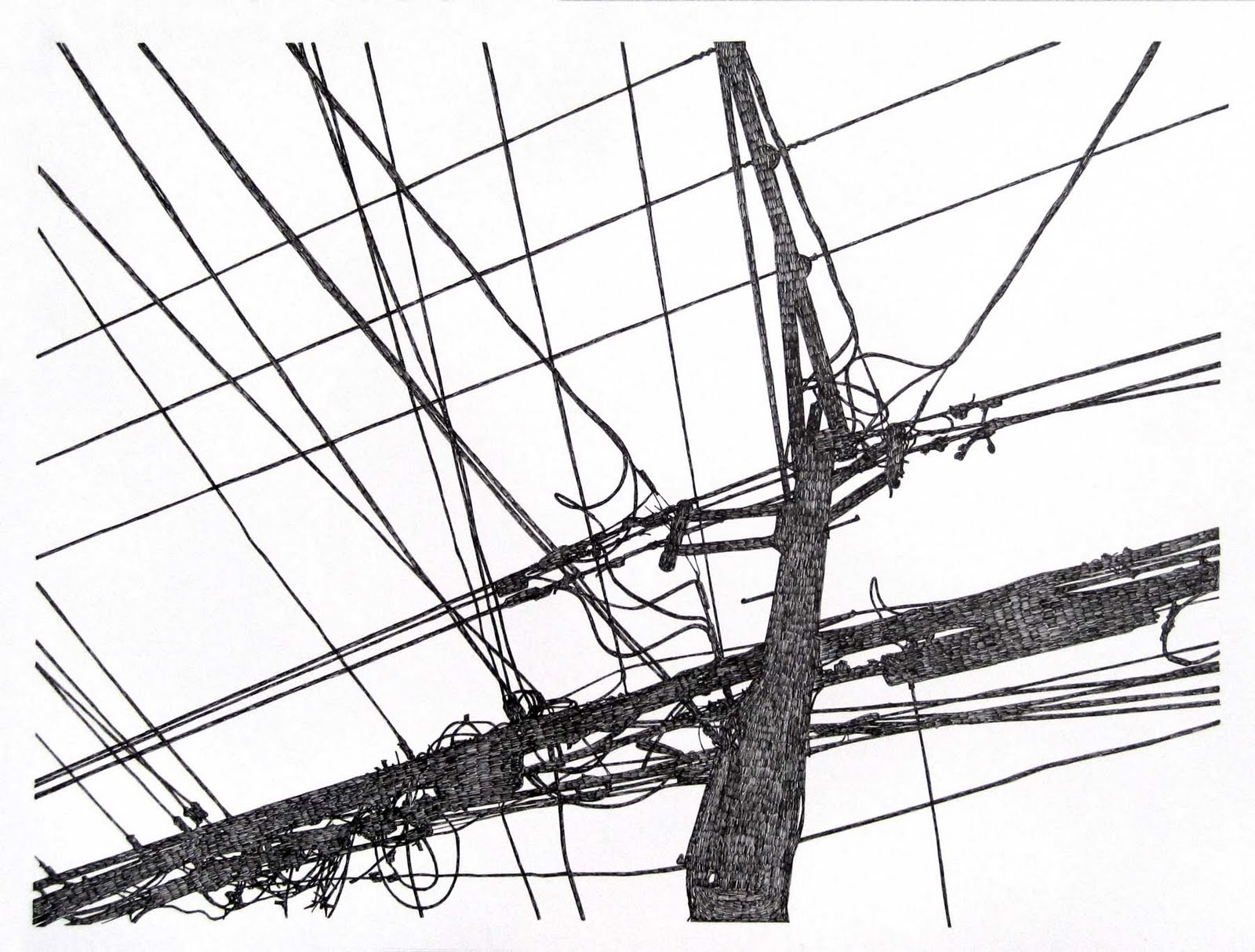 Michael Mcguire Telephone Pole Drawings