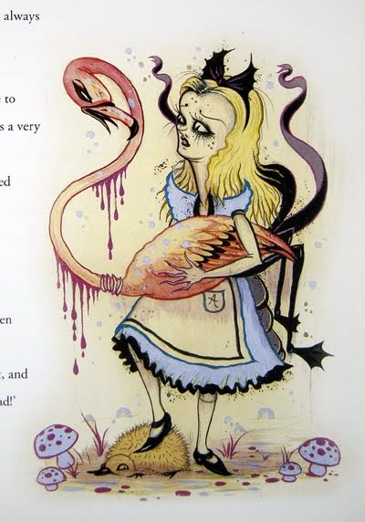 camille rose garcia illustrated alice in wonderland