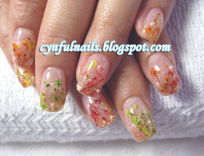 Cynful Nails Inlay Dried Flowers Again