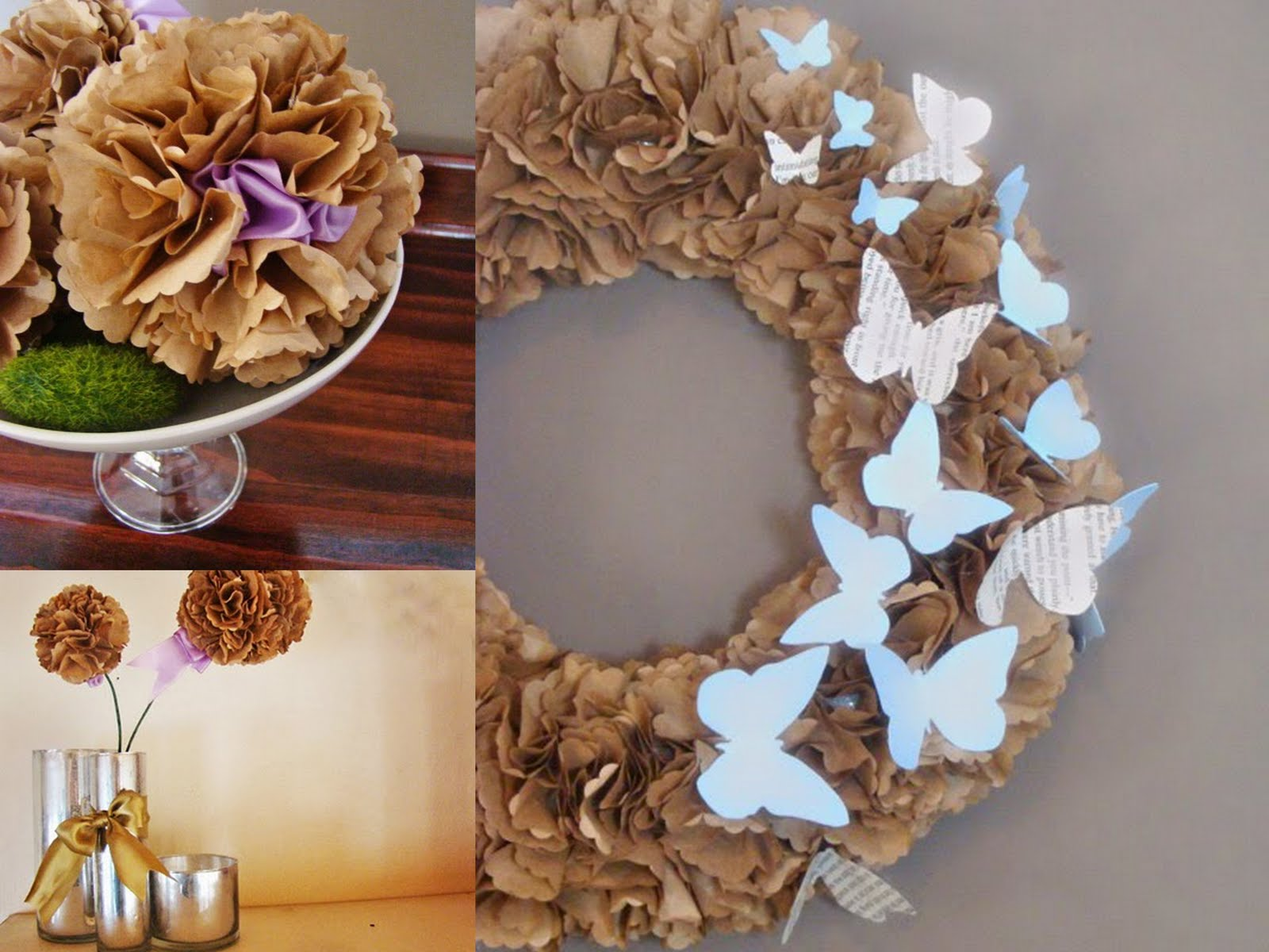 paper bag hydrangeas maryjanes and galoshes has super duper so simple its ridiculous tutorials for her butterfly wreath hydrangea flowers and balls