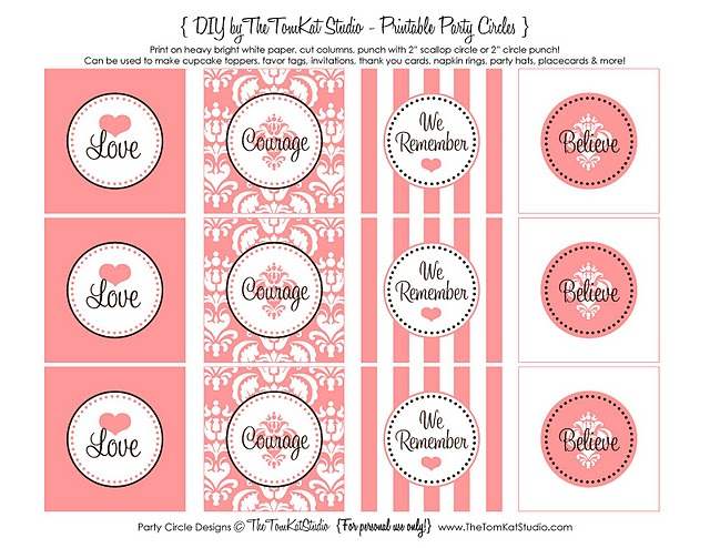 hosting a bake sale this month wouldnt the tomkat studios free printable circles make great cupcake toppers labels or treat tags