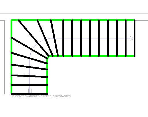 escalier quart tournant revit