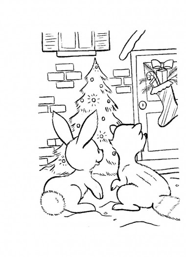 coloring pages of christmas decorations - photo#23