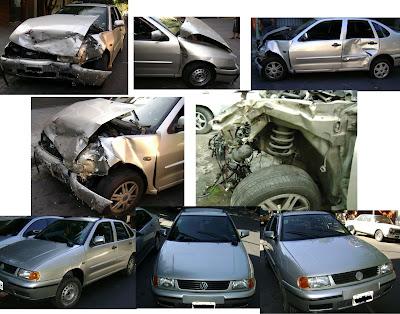 Chapa Y Pintura Autotaller Ex Cari Car Vw Polo Chocado