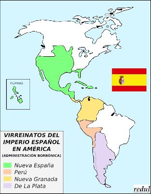 creartehistoria Virreinatos espaoles en Amrica