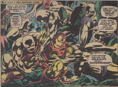 No, the Subterraneans are the bad guys here. Really, I know it seems hard to believe, but Iron Man was the hero this time.