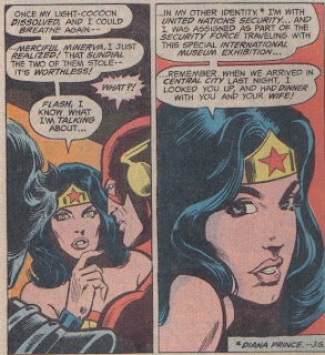 Oh, I can just see my wife letting me in the same room with Wonder Woman, let alone dinner...