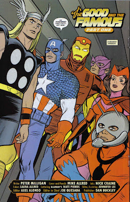 Hawkeye always hated when he showed up late to the group photo shot.