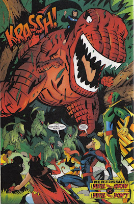 'The Devil You Know vs. the Devil You Don't' would've been even cooler for a Devil Dinosaur/Daredevil fight...