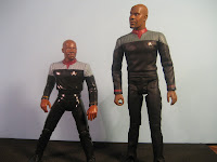 People are taller now than they were 500 years ago, so in the 24th century is Sisko like eight feet tall?
