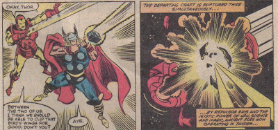 I like Thor sighting down his hammer...