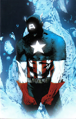 Bzzt!  Cap was frozen without his mask on!  Thaw him out and do it again!