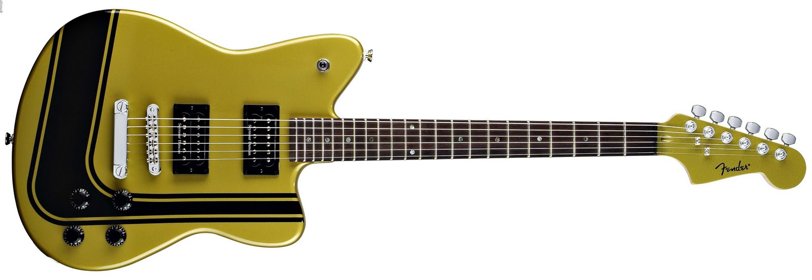 the toronado features two fender atomic humbucking pickups a rosewood fretboard and four chrome knobs 2 volume and 2 tone many models also include a  [ 1600 x 553 Pixel ]