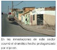 página policial: Se Suicidó en la Calle