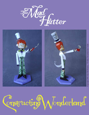 Papercraft del personaje Mad Hatter. Manualidades a Raudales.