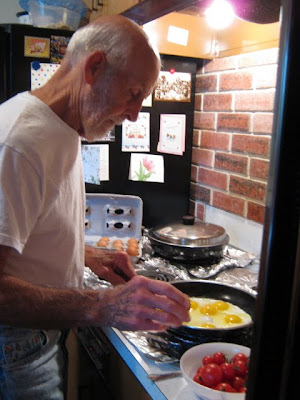 Dad's scrambled eggs from http://featheringnest.blogspot.com/