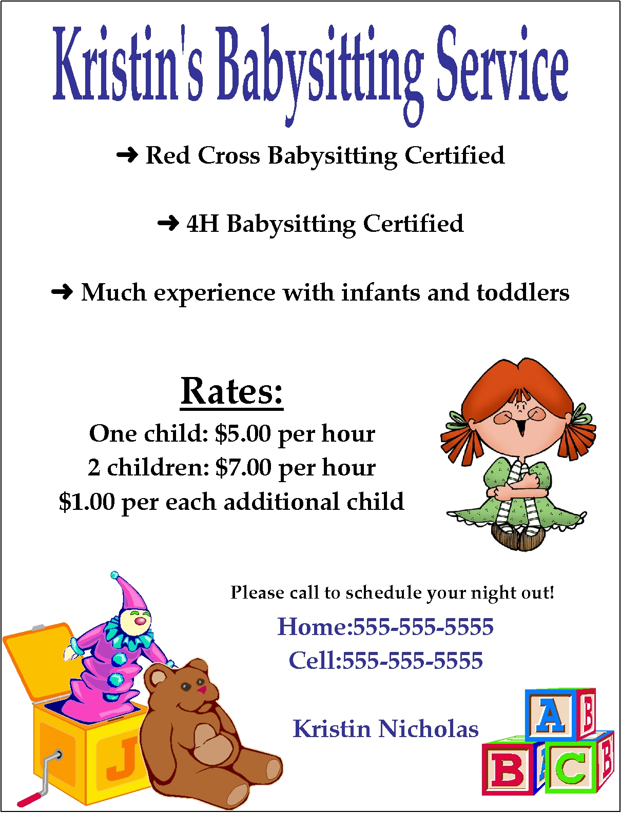 babysitting poster template - babysitting quotes for flyers quotesgram